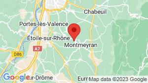 Carte de localisation du centre de contrôle technique MONTMEYRAN