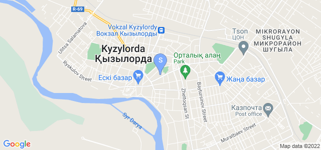 Location of Kyzylorda on map