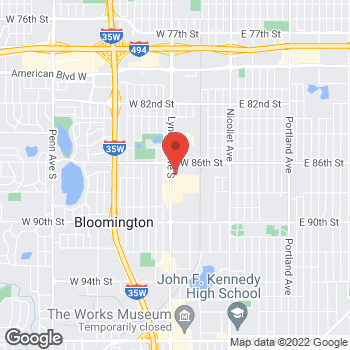 Map of Carquest Auto Parts at 8645 Lyndale Avenue South, Bloomington, MN 55420
