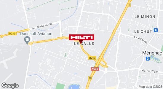 Get directions to Hilti Store - Mérignac