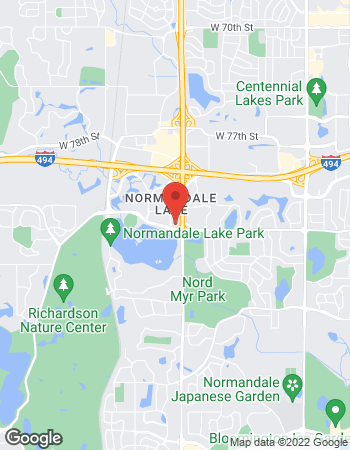 Map of Mark Thompson - TIAA Financial Consultant at 8000 Norman Center Drive, Bloomington, MN 55437