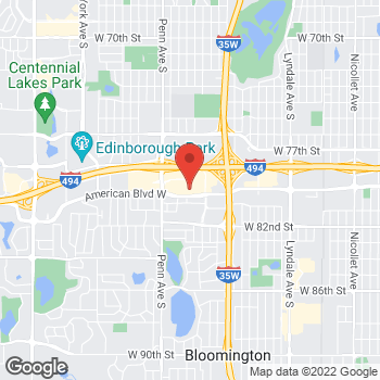 Map of Bed Bath & Beyond at 7961 Southtown Center, Bloomington, MN 55431