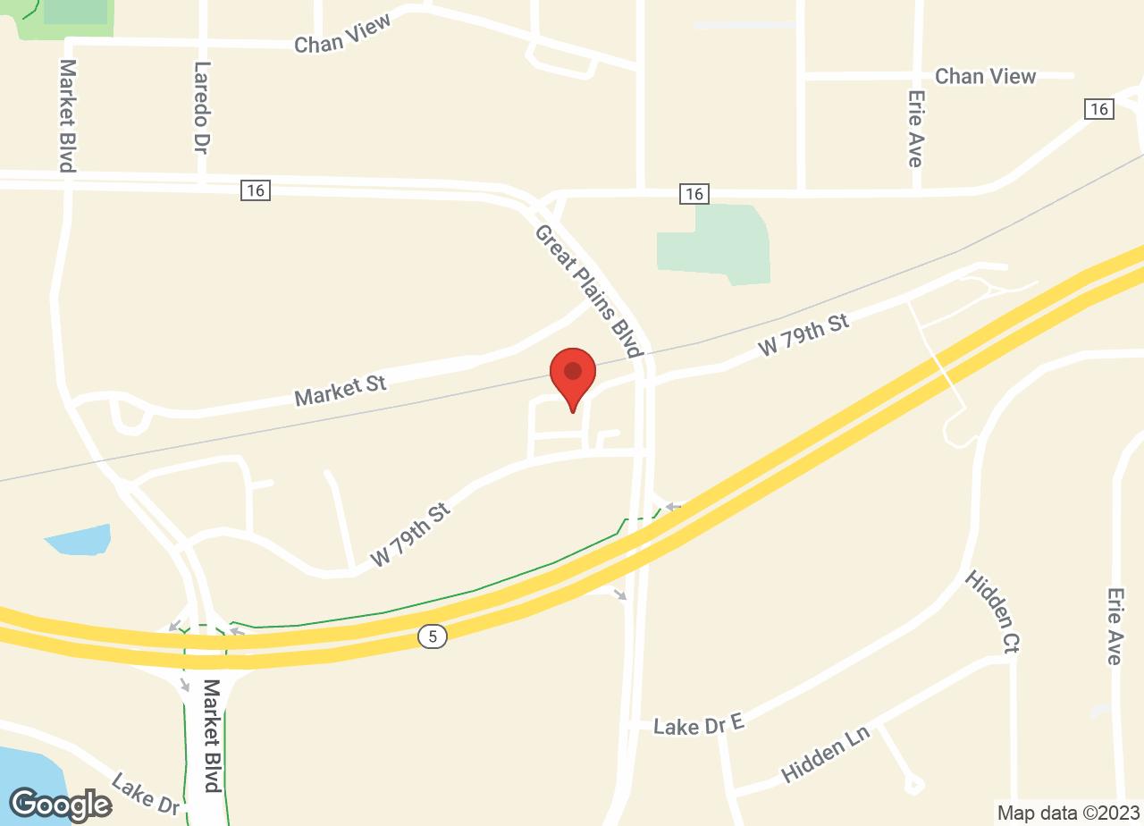 Google Map of VCA Chanhassen Animal Hospital