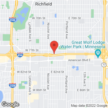 Map of Taco Bell at 7740 2nd Ave South, Richfield, MN 55423