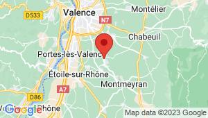 Carte de localisation du centre de contrôle technique BEAUMONT LES VALENCE