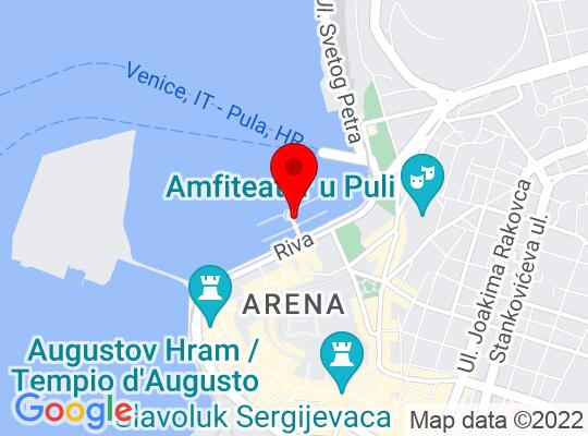 Google Map of Pula