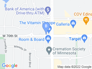 Map of Southdale Pet Hospital Dog Boarding options in Minneapolis | Boarding