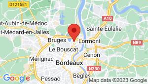 Carte de localisation du centre de contrôle technique BORDEAUX