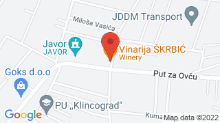 Winery, restaurant and hotel Skrbic map