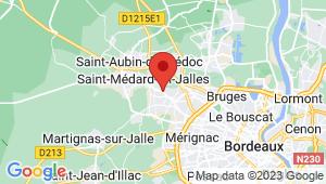 Carte de localisation du centre de contrôle technique SAINT MEDARD EN JALLES