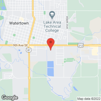 Map of Christopher & Banks at 1300 9th Avenue SE, Watertown, SD 57201