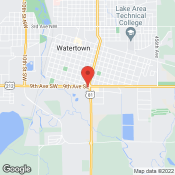 Map of Taco Bell at 911 Fifth St SE, Watertown, SD 57201