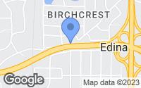 Map of Edina, MN