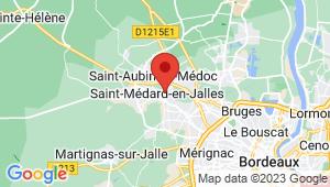 Carte de localisation du centre de contrôle technique ST MEDARD EN JALLES