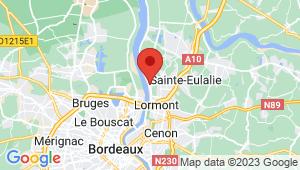 Carte de localisation du centre de contrôle technique BASSENS