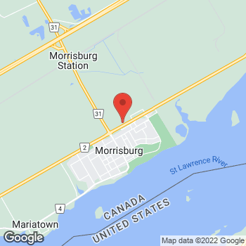 Map of Tim Hortons at 12407 County Rd 2, Morrisburg, ON K0C 1P0