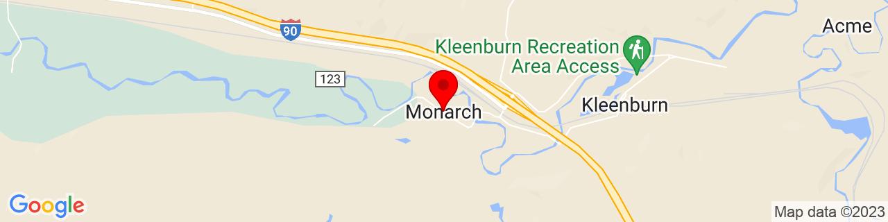 Google Map of 44.90302699999999, -107.0350723