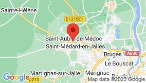 Carte de localisation du centre de contrôle technique SAINT AUBIN DE MEDOC