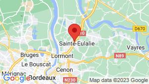 Carte de localisation du centre de contrôle technique STE EULALIE