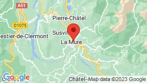 Carte de localisation du centre de contrôle technique LA MURE