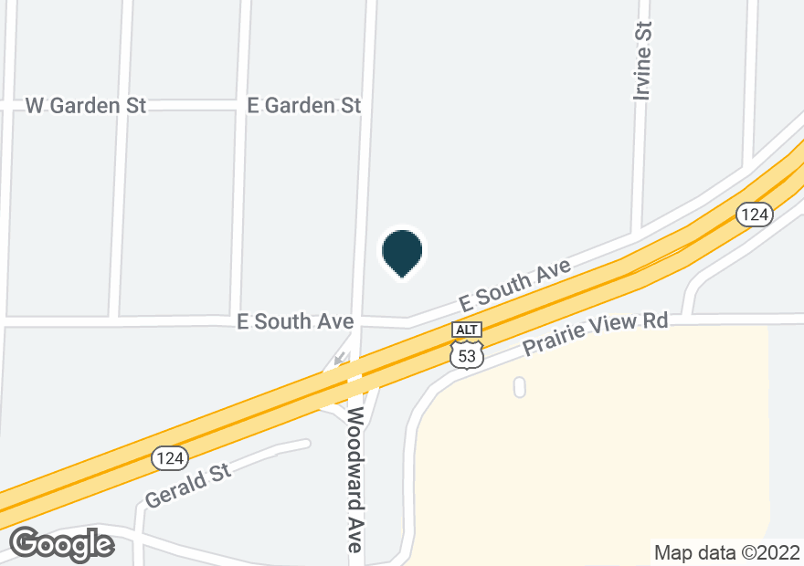 Google Map of849 WOODWARD AVE