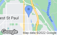 Map of Saint Paul, MN