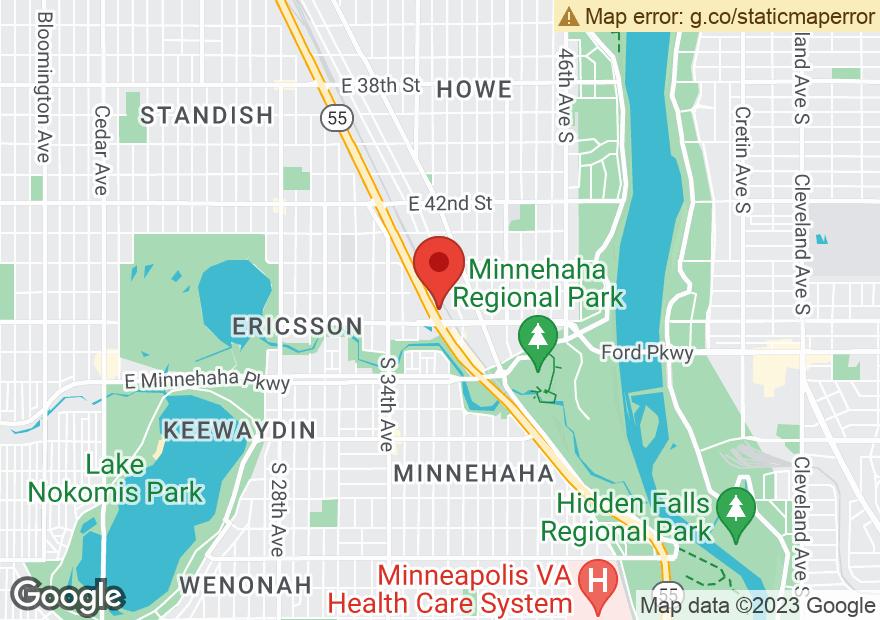 Google Map of 4547 HIAWATHA AVE
