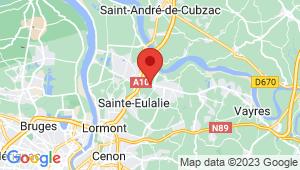 Carte de localisation du centre de contrôle technique SAINT LOUBES