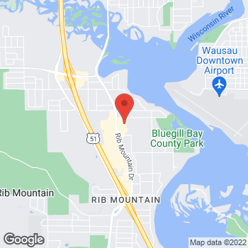 Map of Bed Bath & Beyond at 3575 Rib Mountain Drive, Wausau, WI 54401