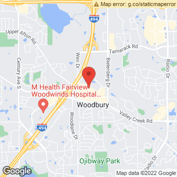 Map of Dr. David Ness, Optometrist, and Associates - Woodbury at 7150 Valley Creek Plaza, Woodbury, MN 55125