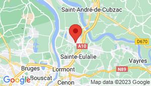 Carte de localisation du centre de contrôle technique AMBARES ET LAGRAVE