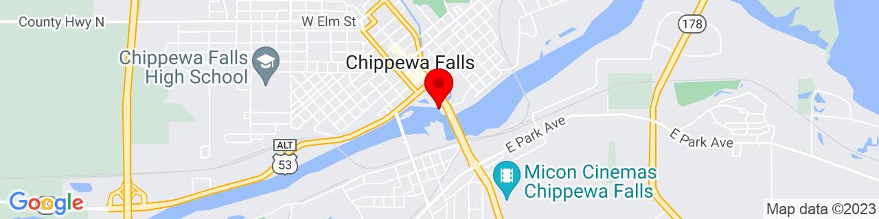 Google Map of 44.9327388, -91.3893236