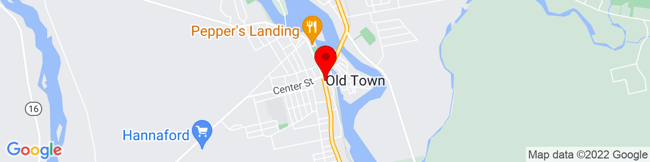 Google Map of 44.93416666666666, -68.64527777777778