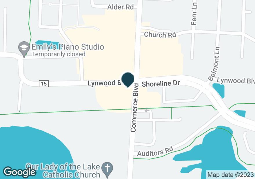 Google Map of2251 COMMERCE BLVD