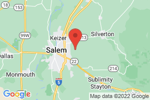 Map of Willamette Valley