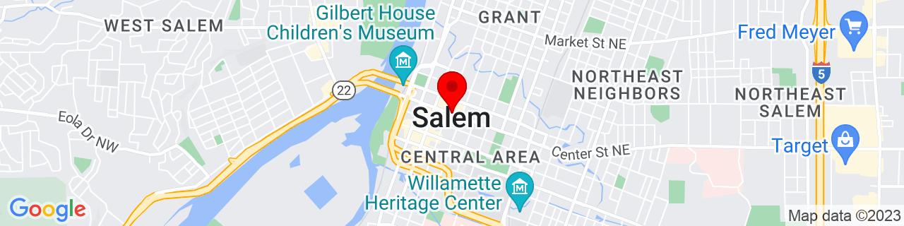 Google Map of 44.94277777777778, -123.035