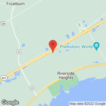 Map of Tim Hortons at Highway 401, Morrisburg, ON K0C 1K0