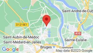 Carte de localisation du centre de contrôle technique PAREMPUYRE