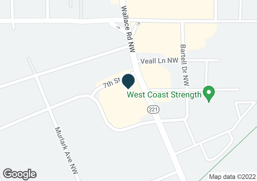 Google Map of699 WALLACE RD NW