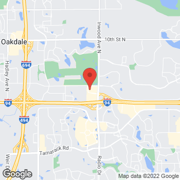 Map of Guitar Center at 8316 3rd Street North, Oakdale, MN 55128