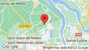 Carte de localisation du centre de contrôle technique LE PIAN MEDOC