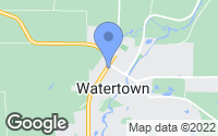 Map of Watertown, MN