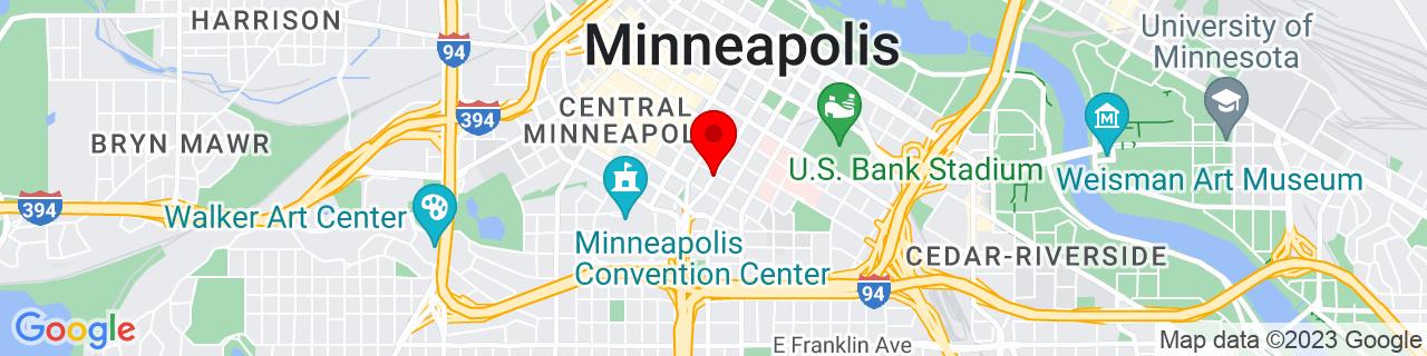 Google Map of 44.97189720000001, -93.2671955