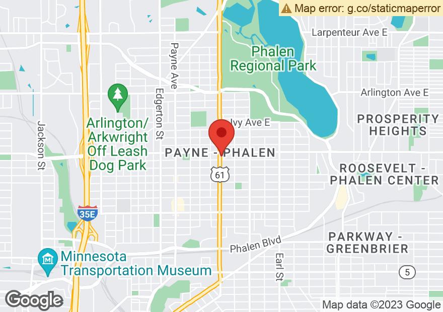 Google Map of 1180 ARCADE ST