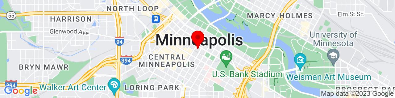 Google Map of 44.9772838, -93.2654381