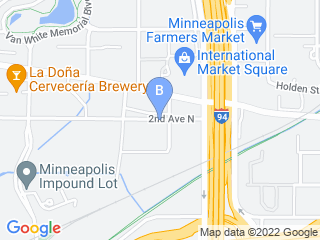 Map of Downtown Dogs Dog Boarding options in Minneapolis | Boarding