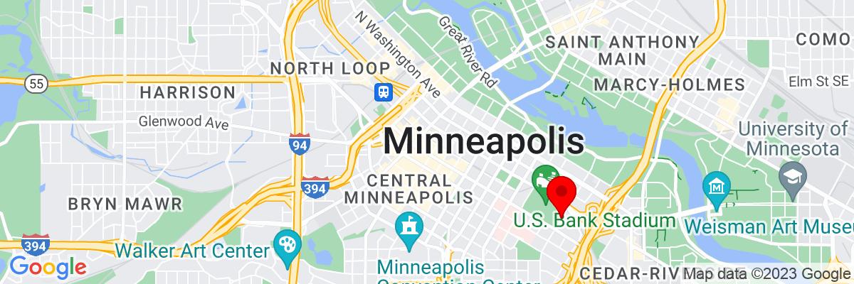 Google Map of 44.978969444444,-93.271823055556