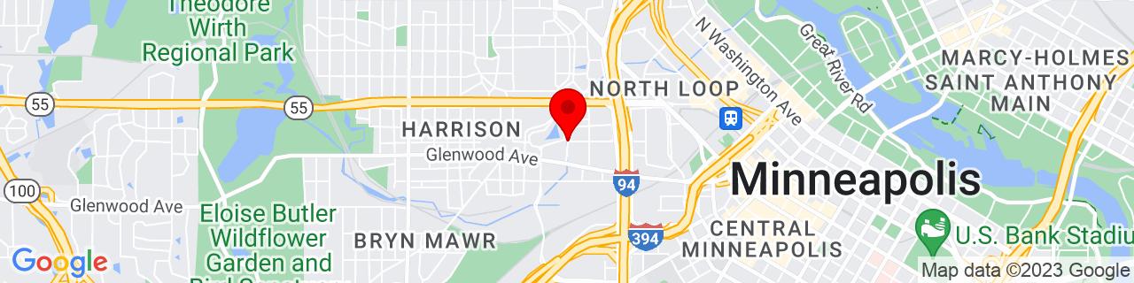 Google Map of 44.9816903, -93.29290929999999