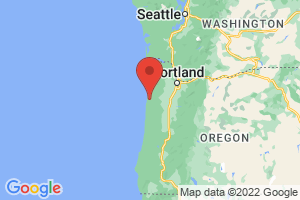 Map of Central Oregon Coast
