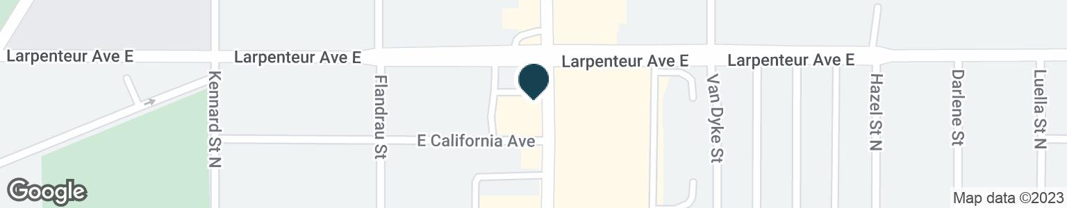 Google Map of1665 WHITE BEAR AVE N